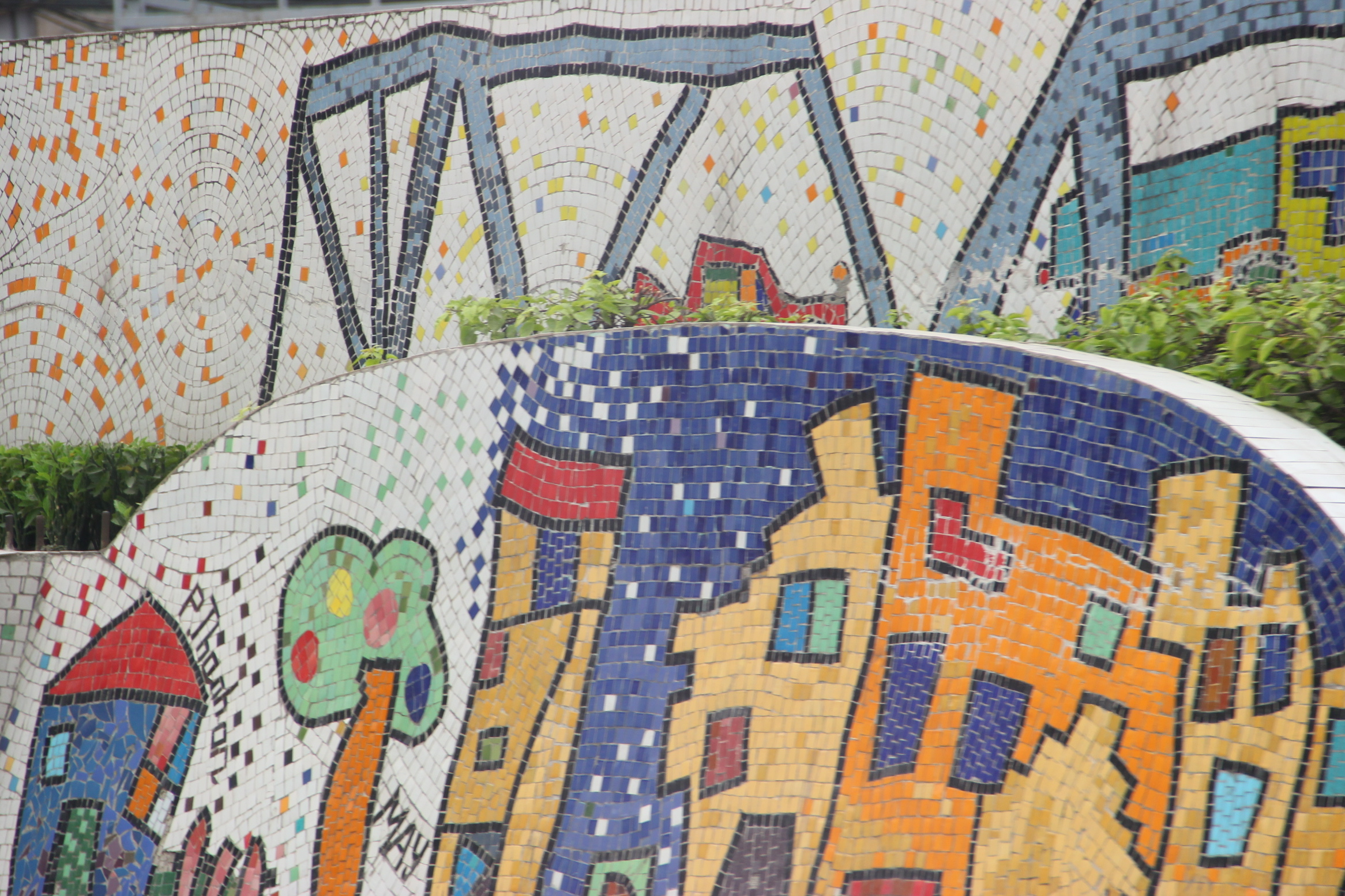 According To The Guinness Book Of World Records Hanoi Ceramic Mosaic Mural Is Largest In This Four Kilometer Long Artwork